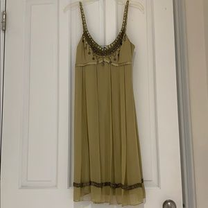 Sue Wong dress, like new! Olive green sz 10